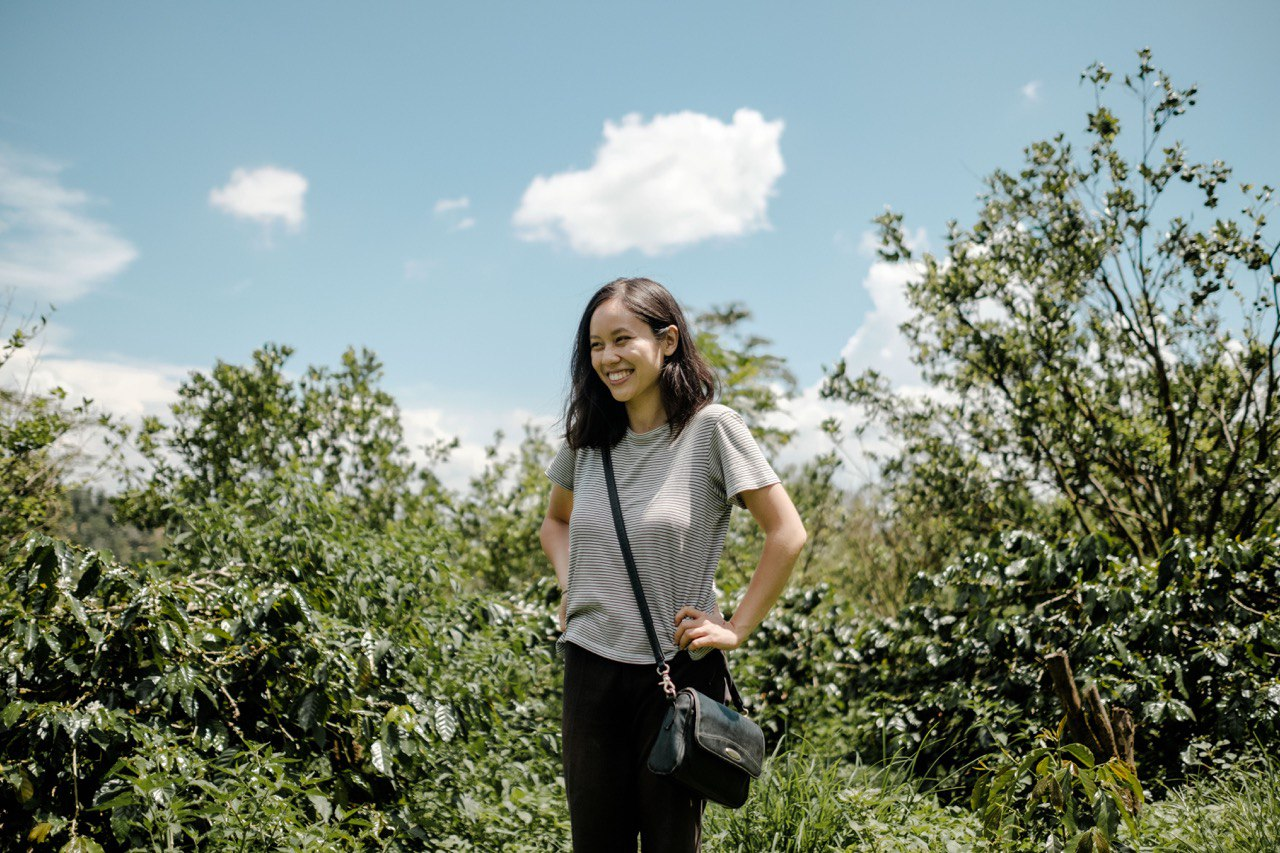 woman in a coffee crop
