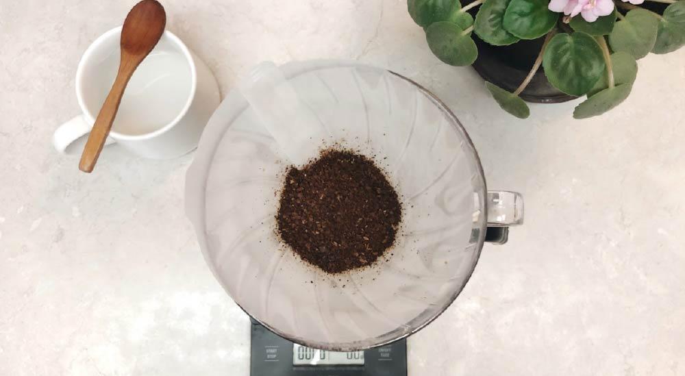Used coffee grounds