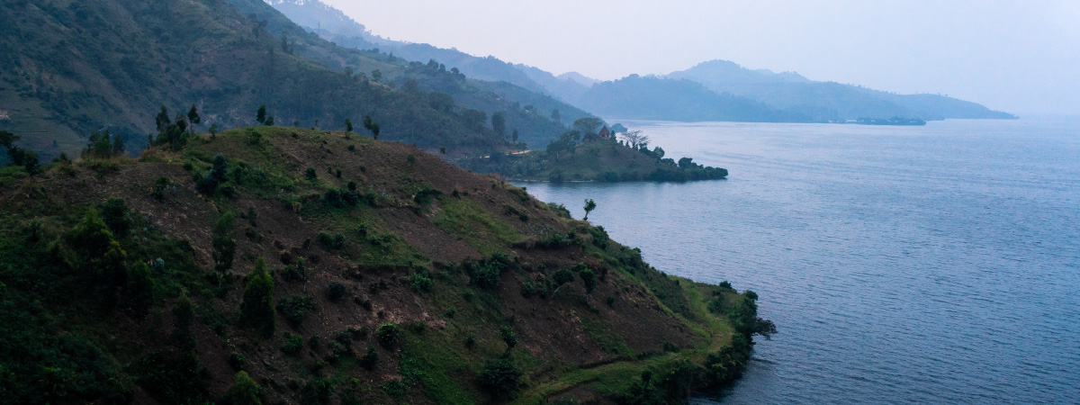 View from a coffee farm in Congo