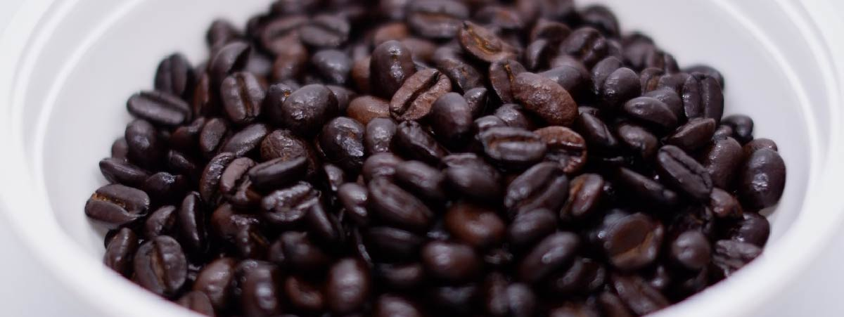 Very dark roasted coffee