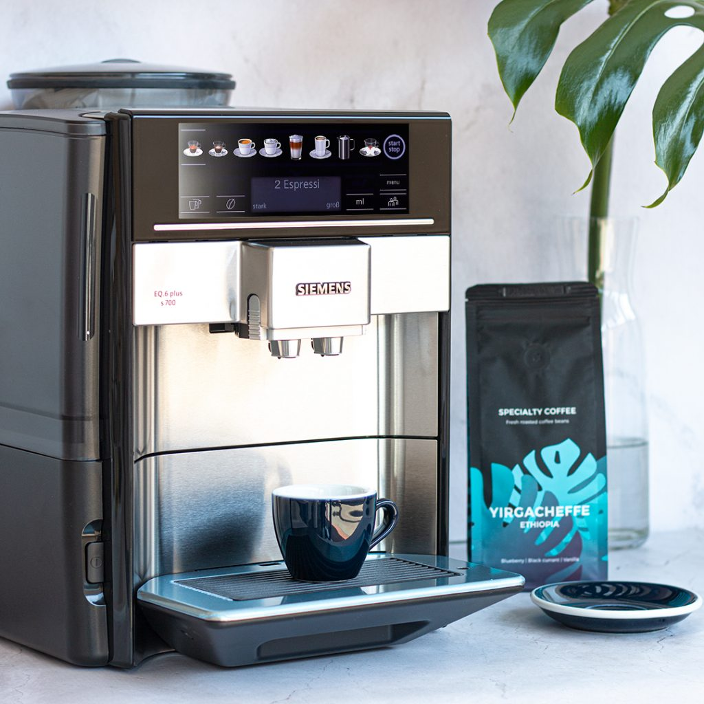 Homelike black siemens espresso machine