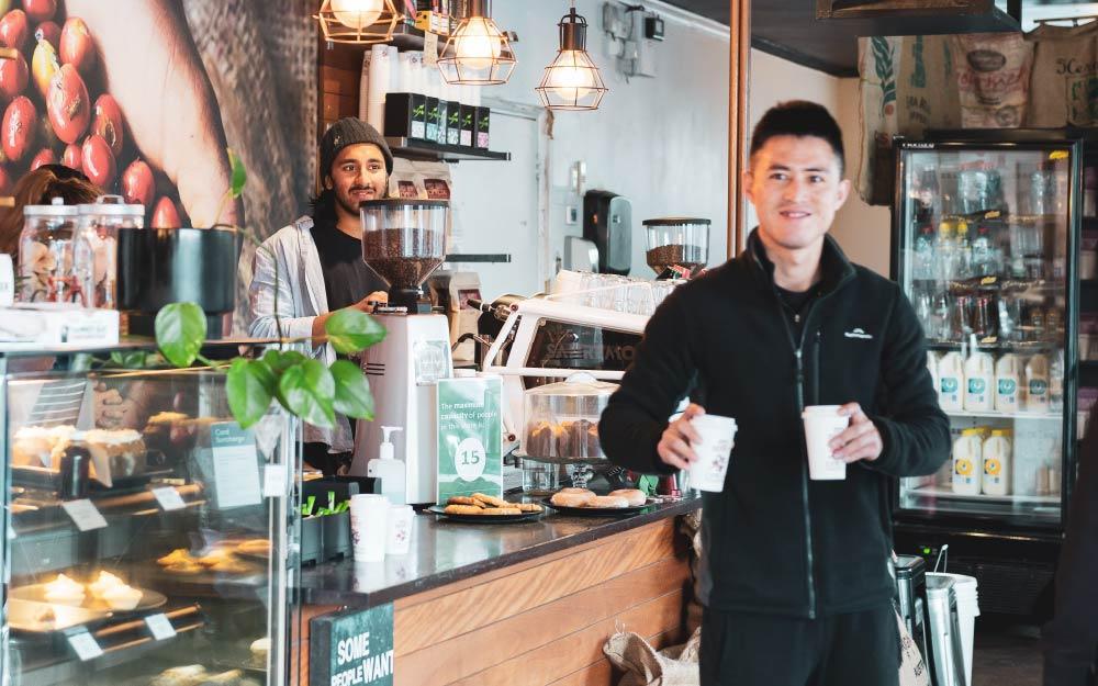 servicio tienda de café
