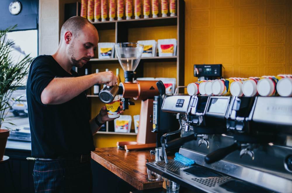 cafetería de barrio