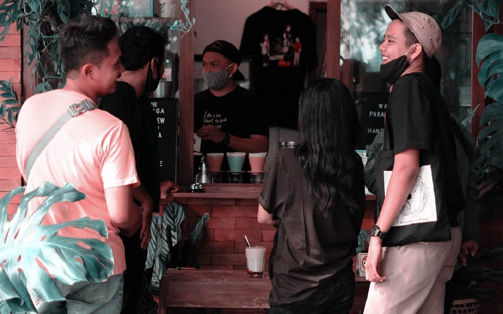 tienda de café en Indonesia