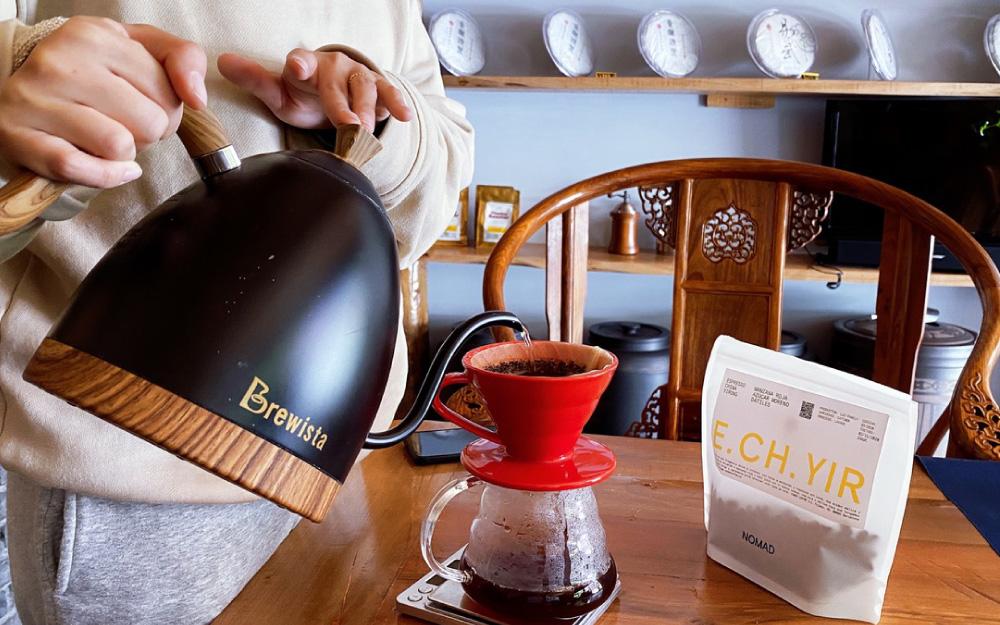 preparo de cafe na china