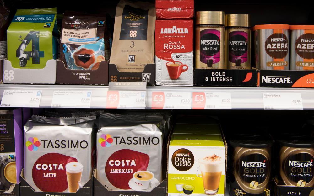 café supermercado