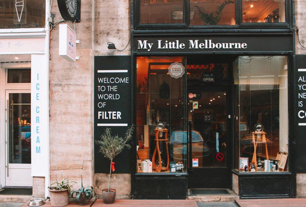 pequeño café de Melbourne