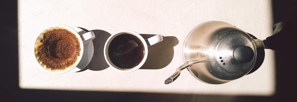warm water coffee brew
