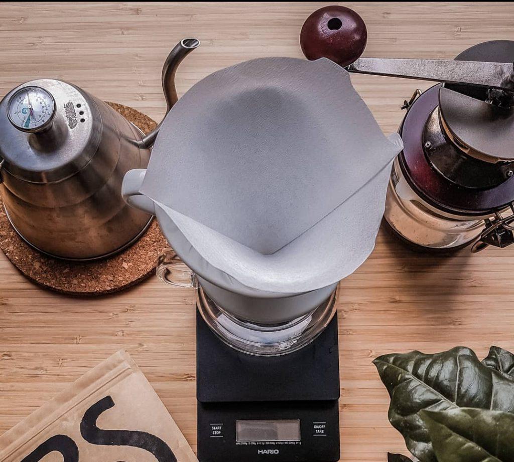 cono de goteo preparación de café